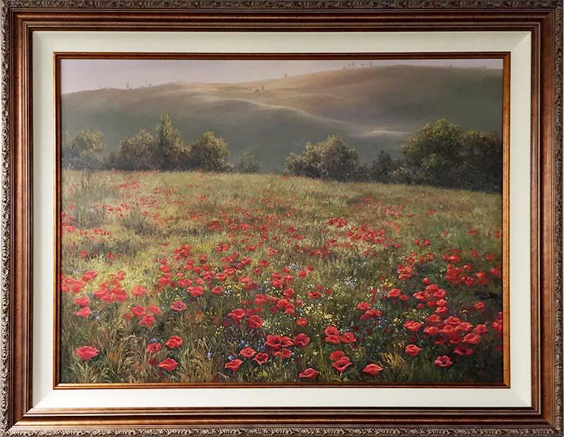 Wild Flower Meadow by M.S. Park, Framed