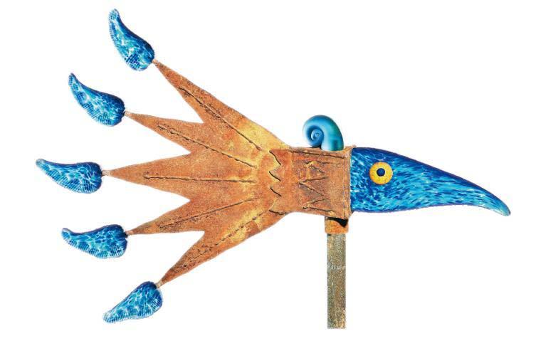 Windbird Wind Chime: 24-34-02 in Blue