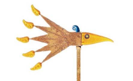 Windbird Wind Chime: 24-34-04 in Yellow