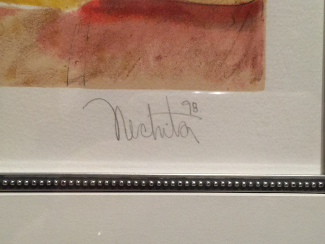 Alexandra Nechita - Winning Together, Signature