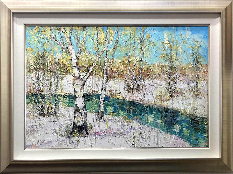 Winter by Konstantin Savchenko, Framed