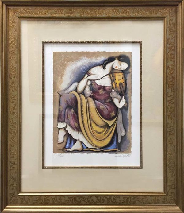 Woman With Lyre by Rajka Kupesic, Overview
