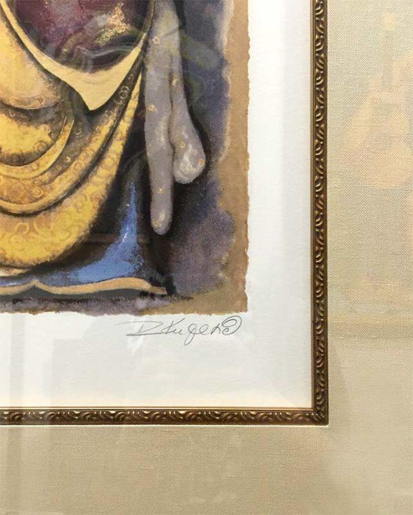 Woman With Lyre by Rajka Kupesic, Signature