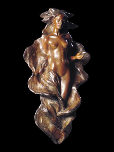Woman with Outstretched Arms - Bronze Sculpture