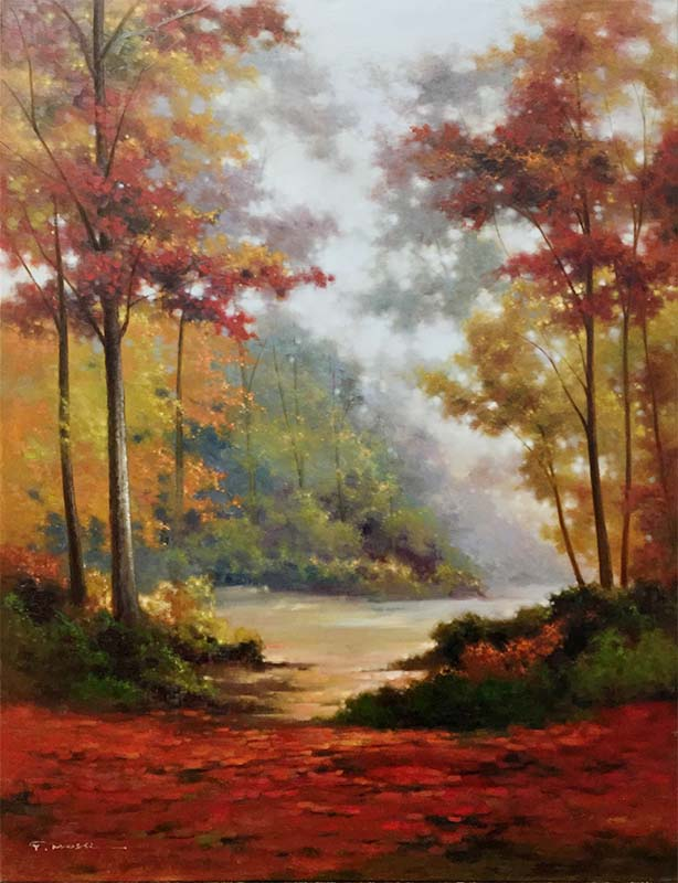 Wooded Pathway by Pan Mossi, Overview