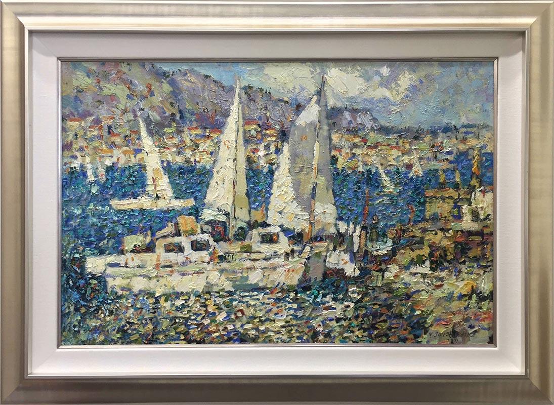 Afternoon Sailing I by Yriu Savchenko, Framed