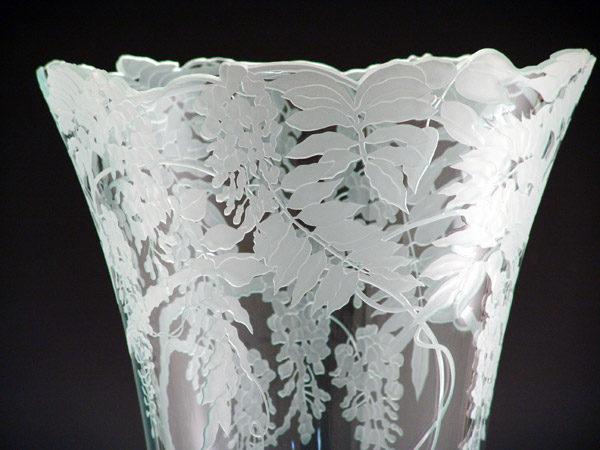 """Wisteria Vase, 30"""" by Stephen Schlanser, Detail"""