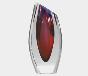 Ruby Elite Extra Large Vase 9204 Correia Glass