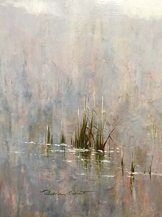 A Peaceful Day III by R. Scott, Signature
