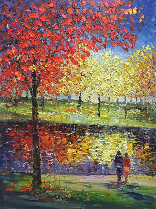 Afternoon in the Park II by Konstantin Savchenko