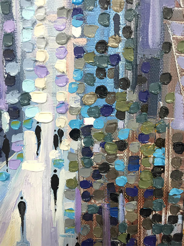 Afternoon on Woodward by Ekaterina Ermilkina, Detail