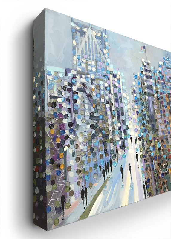 Afternoon on Woodward by Ekaterina Ermilkina, Gallery Wrapped