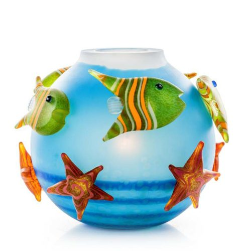 Aqua Fish Bowl Table Lamp: 24-52-00