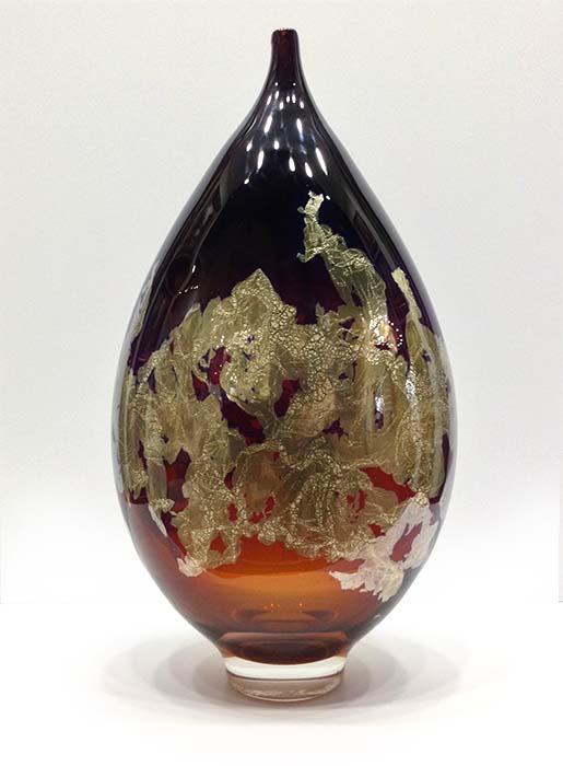 Atlas Vase in Amber, Front