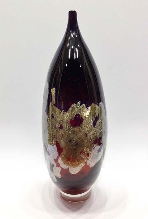Atlas Vase in Amber, Side