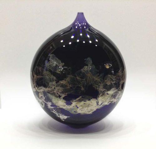 Atlas Vase in Purple, Front