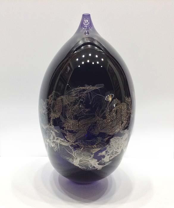 Atlas Vase in Purple, Side