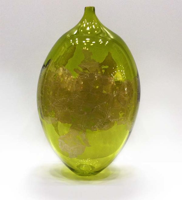 Atlas Vase in Lime, Front