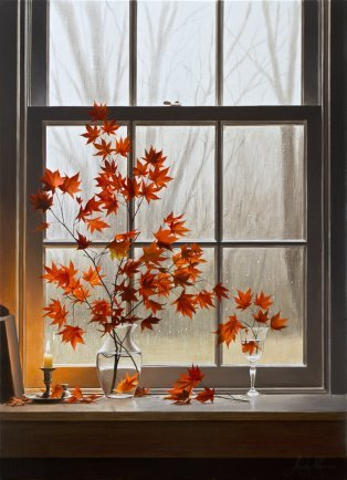 Autumn Window with Oriental Maple - Limited Edition