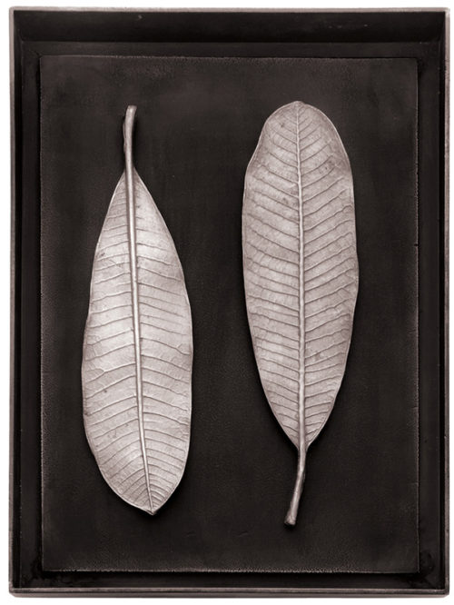Champa Leaf Shadow Box - Antique Nickel, Item #176066 by Michael Aram