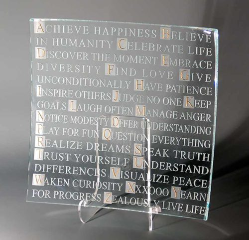 ABC Clear Glass Platter
