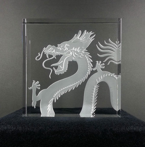 Dragon Paperweight by Stephen Schlanser at Art Leaders Gallery - Michigan's Finest Art Gallery