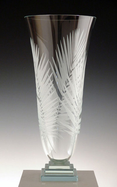 Palm Leaf Vase by Stephen Schlanser at Art Leaders Gallery - Michigan's Finest Art Gallery