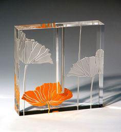 Poppy Bud Vase by Stephen Schlanser at Art Leaders Gallery - Michigan's Finest Art Gallery