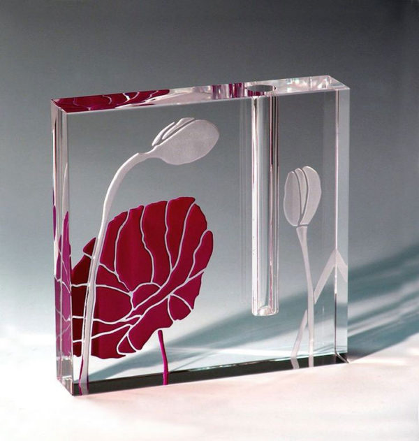 Poppy Bud Vase by Stephen Schlanser at Art Leaders Gallery - Michigan's Finest Art Gallery