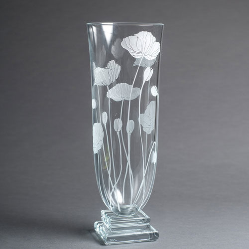 Poppy Fields Vase by Stephen Schlanser at Art Leaders Gallery - Michigan's Finest Art Gallery