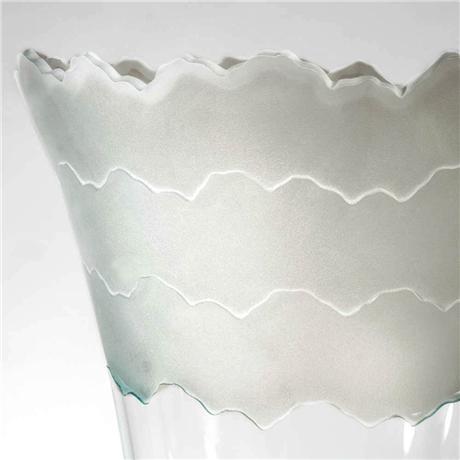 "Scapes Vase, 17"" by Stephen Schlanser"