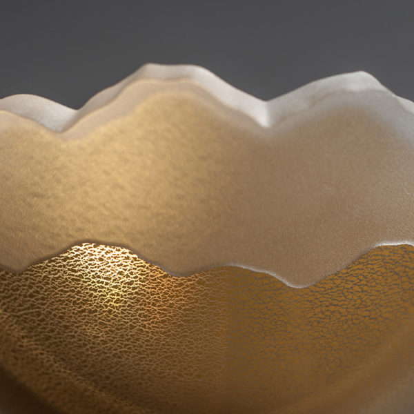"""Scapes Bowl in Gold, 7"""" by Stephen Schlanser"""
