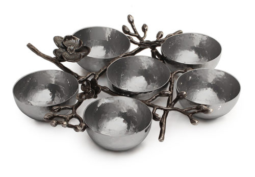 Michael Aram: Black Orchid 6 Compartment Plate, Item #110837