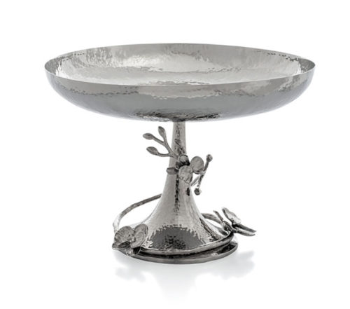 White Orchid Footed Centerpiece Bowl, Item #111843