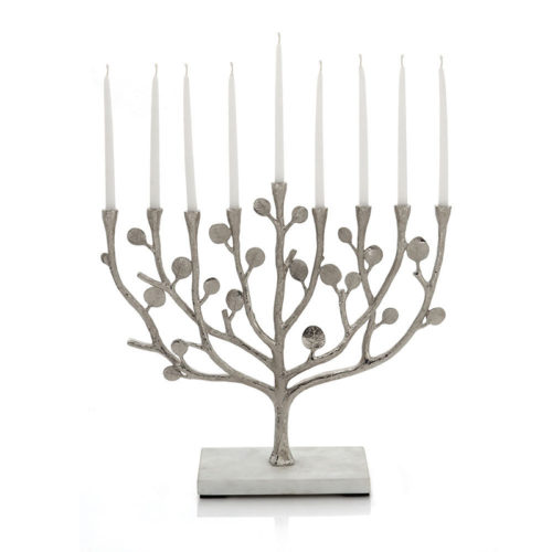 Michael Aram: Botanical Leaf Menorah, Item #112380
