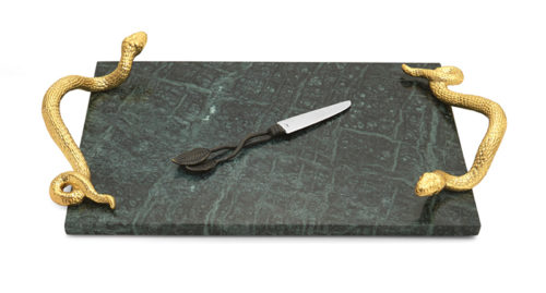 Rainforest Cheese Board with Knife, Item #123103