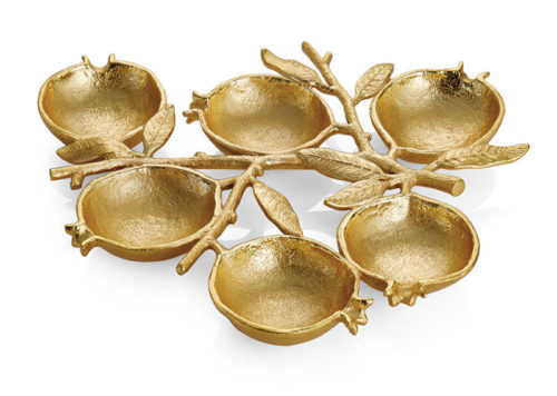 Michael Aram: Pomegranate 6 Compartment Plate, Item #175255
