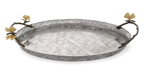 Michael Aram: Butterfly Ginkgo Oval Tray, Item #175762