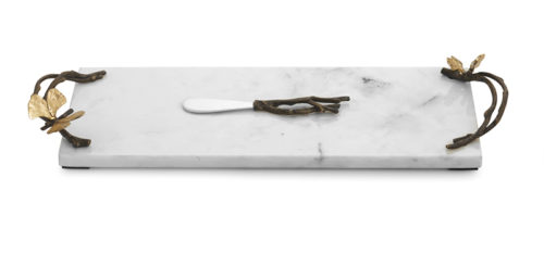 Butterfly Ginkgo Small Cheese Board with Knife, Item #175782