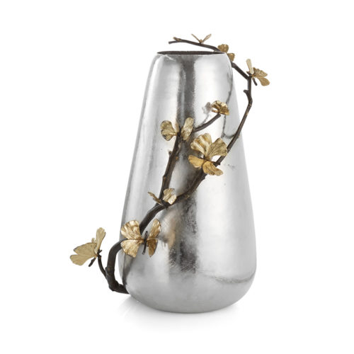 Butterfly Ginkgo Centerpiece Vase, Item #175786