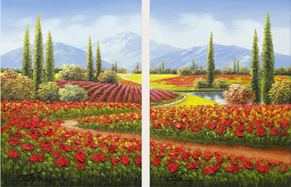 Happy Trails Diptych by Jung Mario