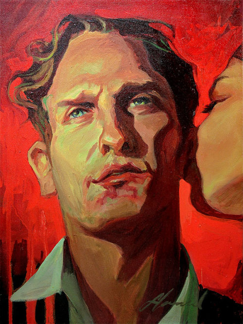 Gabe Leonard: Lip Service, Original Oil Painting