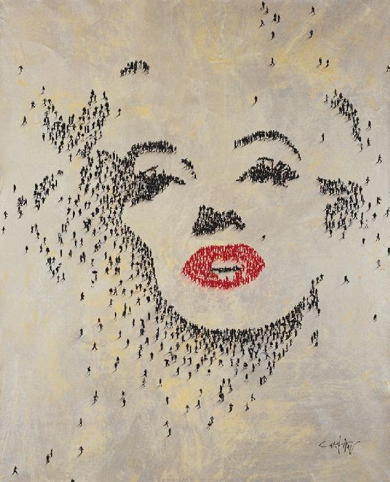 Craig Alan Painting, Marilyn Monroe: Nights Were for Sleeping II, Populous Series