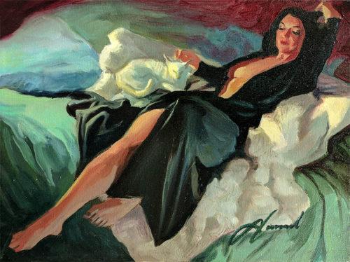 Gabe Leonard: Pet Me, Original Oil Painting