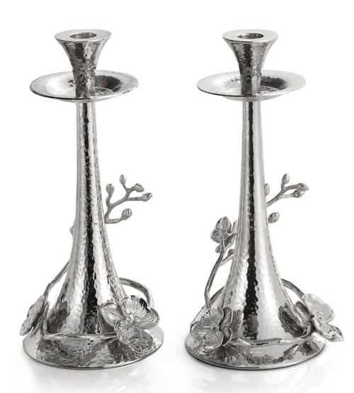 White Orchid Candleholders (Set of 2), Item #111808