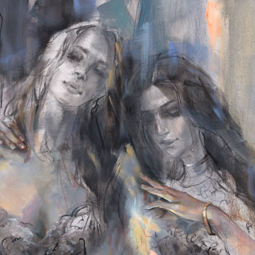 """""""Silver Lining II"""" by Anna Razumovskaya at Art Leaders Gallery, voted """"Michigan's Best Fine Art Gallery"""" is located in the heart of West Bloomfield. This full service fine art gallery is the destination for all your art and custom picture framing needs. Our extensive inventory of art includes styles ranging from contemporary to traditional. The gallery represents international, national and emerging new talent as well as local Michigan artists."""