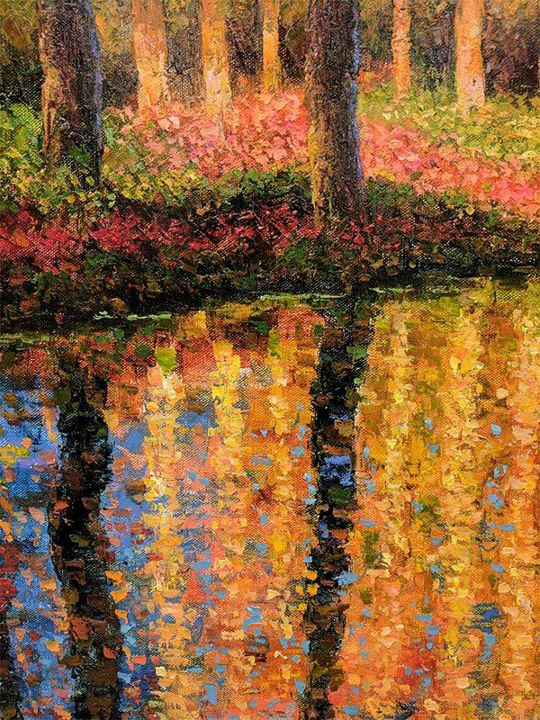 Autumn Reflections by Lambert, Detail