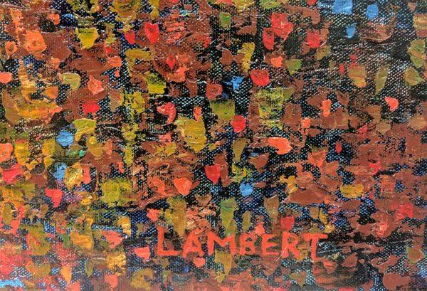 Autumn Reflections by Lambert, Signature