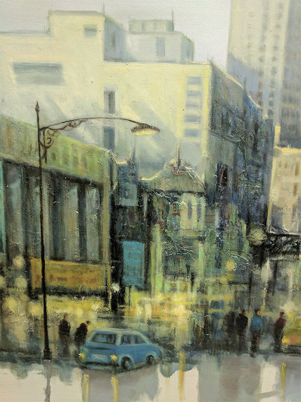 City Reflections VI by Lawson, Detail