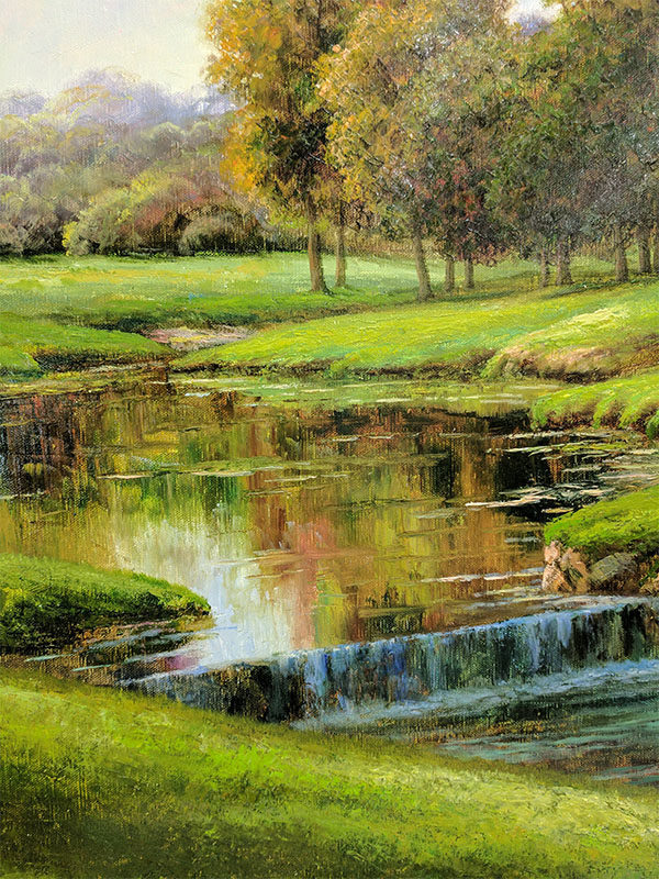 Late Summer's Golf by Dean Moyer, Detail
